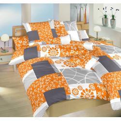 Saténové povlečení Bluemoon 140x200, 70x90 cm (oranžové)