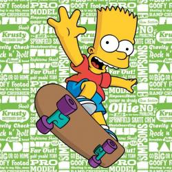 JERRY FABRICS Dětský polštářek Simpsons Bart 2016 40x40 cm