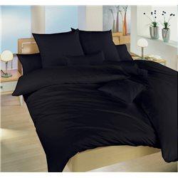 Saténové povlečení 140x220, 70x90 cm (černé)