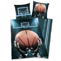 HERDING Bavlněné povlečení BASKETBALL 140x200, 70x90 cm