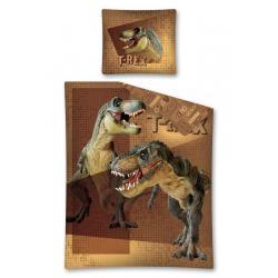 Povlečení Tyranosaurus Rex hnědá 140/200