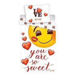 JERRY FABRICS Bavlněné povlečení EMOJI-SMAJLÍCI YOU ARE SO SWEET 140x200, 70x90 cm