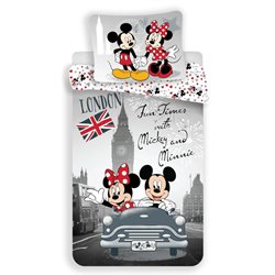 Dětské povlečení Mickey and Minnie in London