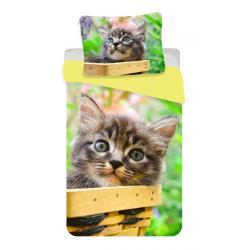 Povlečení fototisk Kočka mourek 140x200, 70x90 cm
