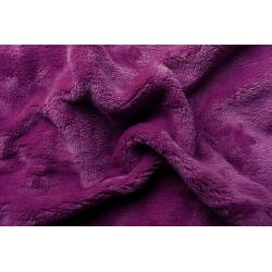 Prostěradlo mikroflanel fialová tmavá 90x200x20 cm
