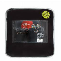 Prostěradlo mikroflanel černá 180x200x20 cm