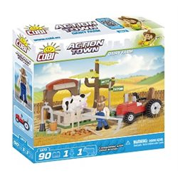 COBI Action Town stavebnice Farma, traktor a kráva