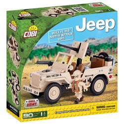 Stavebnice Small Army Jeep Willys MB severní Afrika
