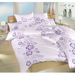 Povlečení bavlna Ibišek fialový 140x200, 70x90 cm