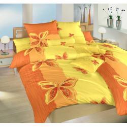 Bavlněné povlečení Motýl žlutý 140x200, 70x90 cm