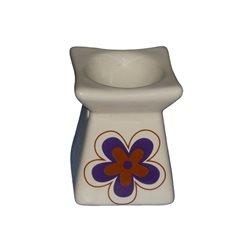 Keramická aromalampa Květina (bílá)