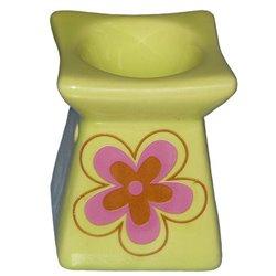 Keramická aromalampa Květina (zelená)