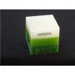 Svíčka kostička tříbarevná Eukalyptus