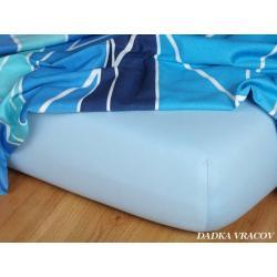Jersey prostěradlo světle modrá 70x140x10 cm