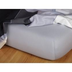 Jersey prostěradlo šedá 70x140x10 cm