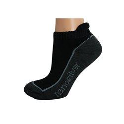 Kotníkové ponožky se stříbrem nanosilver S 35/38 (černé)