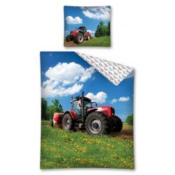 Dětské povlečení Traktor na louce