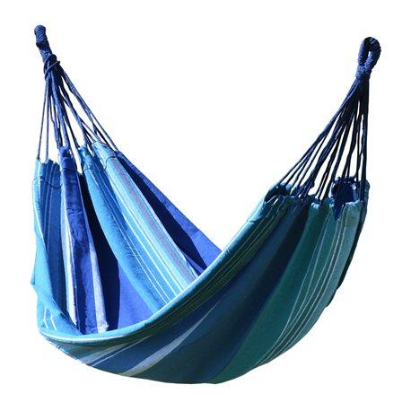 COMPASS CZ Látková houpací síť modro-bílá