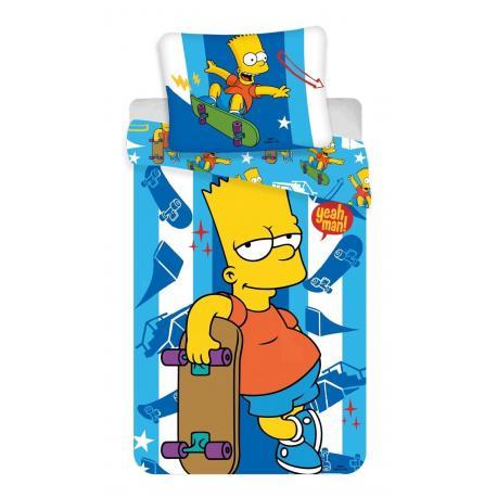 JERRY FABRICS Povlečení Simpsons Bart Skater 140x200, 70x90 cm