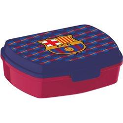 Stor box na svačinu FC BARCELONA fialový 16x11x5 cm