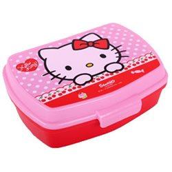 Dětský box na svačinu Hello Kitty (červený)