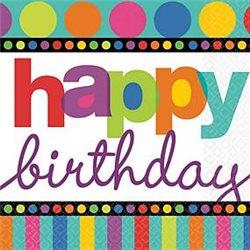 Dětské party ubrousky Happy Birthday