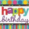 Papírové ubrousky s motivem přání k narozeninám, které nesmí chybět na žádné oslavě. Základní vlastnosti:rozměry (šxd): 33x33 cm. v balení je 16 kusů. dvouvrstvé ubrousky. vyrobeno v USA.