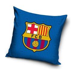 Dětský polštářek FC Barcelona Blue 40x40 cm
