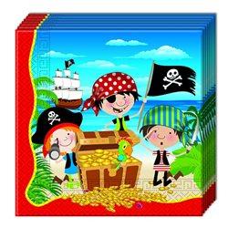 Dětské party ubrousky Piráti