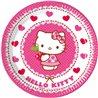 Papírové talíře s oblíbenou kočičkou Hello Kitty, které nesmí chybět na žádné oslavě. Základní vlastnosti:průměr: 19,5 cm. balení obsahuje8 ks talířů. licenční výrobek. vyrobeno v EU.
