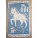 Dětský ručník Kůň (světle modrý)