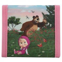 Dětská peněženka Máša a Medvěd (růžová)