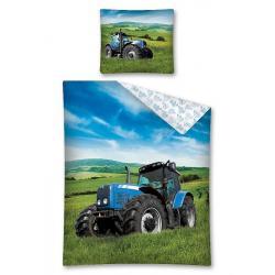 Dětské povlečení Traktor modrý