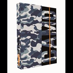KARTON P+P box na sešity A4 Army 23x32x3,5 cm