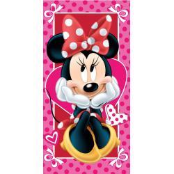 JERRY FABRICS Osuška Minnie Hearts 02 70x140 cm