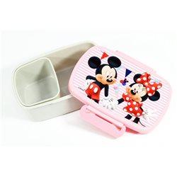 Dětský box na svačinu Mickey Mouse a Minnie (bílý)