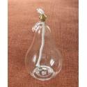 Dekorativní petrolejová lampa (hruška s lístkem)