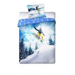 Dětské povlečení Snowboardista 140x200, 70x90 cm