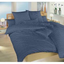 Bavlněné povlečení Hvězdička bílá na tmavě modrém 140x200, 70x90 cm