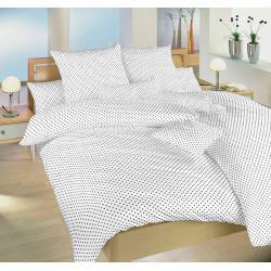 Bavlněné povlečení Puntík bílý 140x200, 70x90 cm