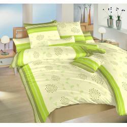 Povlečení bavlna Liána zelená 140x200, 70x90 cm
