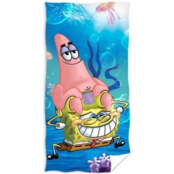 CARBOTEX Osuška SpongeBob a Patrik 70x140 cm