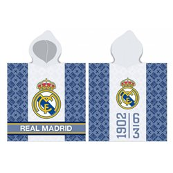 CARBOTEX Pončo Real Madrid 60x120 cm