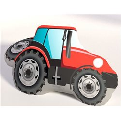 TIPTRADE Polštářek Traktor červený 3D 38x27 cm