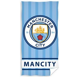 CARBOTEX Osuška Manchester City Stripes 70x140 cm