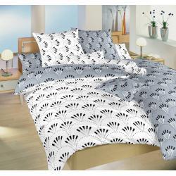 Dadka bavlněné povlečení Gabru bílý/šedý DUO 140x200, 70x90 cm