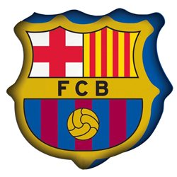 Polštářek FC Barcelona Logo 3D 33x33 cm