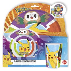 Stor dětská melamin sada nádobí Pokémon
