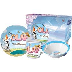 Euroswan dětská porcelánová sada nádobí Frozen Olaf