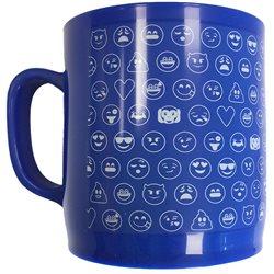 EMOTICONWORLD Plastový hrnek EMOJI-SMAJLÍCI modrý 300 ml